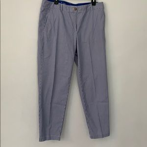 Blue and white pin stripped chino pants!!